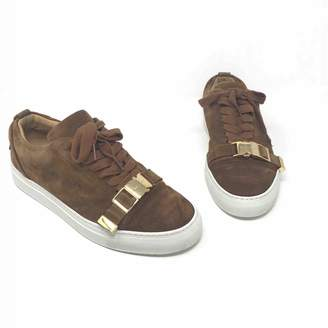 Buscemi Brown Suede Lace ups