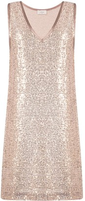 Altea Metallic Sequin Mini Dress