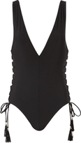 Zimmermann Divinity Lace-Up One Piece Swimsuit Black 2