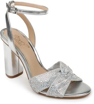 Badgley Mischka Nicoline Embellished Ankle Strap Sandal