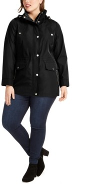 Michael Kors Michael Plus Size Water-Resistant Hooded Anorak Jacket