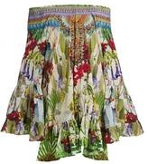 Camilla Exotic Hypnotic-print silk dress