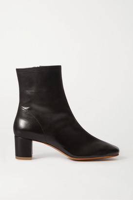 BY FAR Sofia Leather Ankle Boots - Black