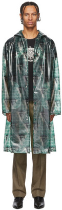 Undercover Green Valentino Edition Printed Long Rain Coat