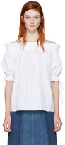 Alexander McQueen White Off-The-Shoulder Blouse