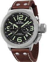 Tw Steel Cs23 Canteen Leather Steel Chronograph Watch