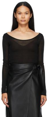 Nanushka Black Beth Long Sleeve T-Shirt