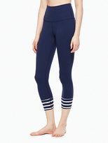 Kate Spade Stripe cuff high waisted capri legging