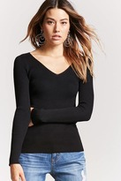Forever 21 V-Neck Sweater Knit Top