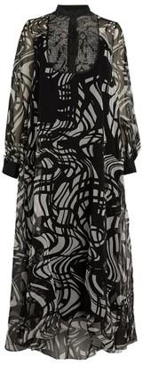 Marina Rinaldi Silk Printed Maxi Dress