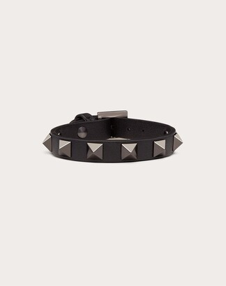 Valentino Rockstud Noir Bracelet Women Black Calfskin 100% OneSize