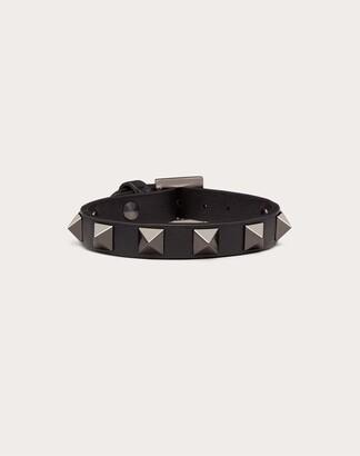 Valentino Rockstud Noir Bracelet Women Black Metallic Fiber 10% OneSize