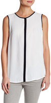 Susina Sleeveless Contrast Trim Shirt (Petite)