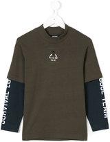 Diesel graphic print layered shirt