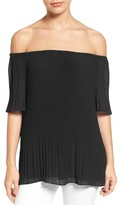 MICHAEL Michael Kors Women's Off The Shoulder Pleat Top