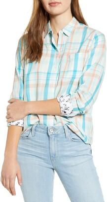 Lucky Brand Plaid One-Pocket Shirt
