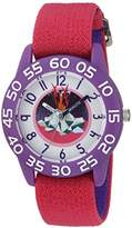 EWatchFactory Girl's 'Discovery Channel' Quartz Plastic and Nylon Sport Watch, Color:Pink (Model: WDC000012)