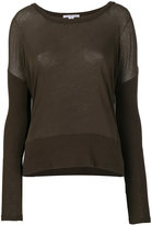 James Perse contrast rib blouse
