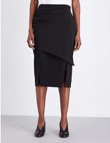 Jil Sander Draped stretch-wool pencil skirt
