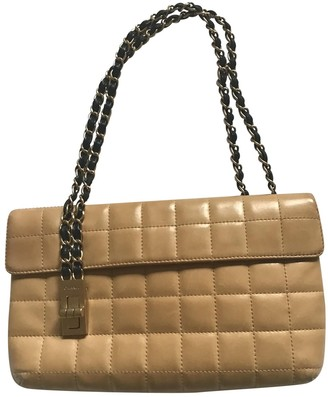Chanel East West Chocolate Bar Gold Leather Handbags