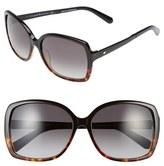 Kate Spade Women's 'Darrilyn' 58Mm Butterfly Sunglasses - Black/ Tortoise Fade
