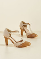 Chelsea Crew Vivacious Vibes T-Strap Heel in Tan in 37
