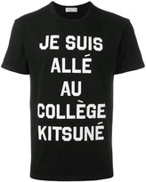 MAISON KITSUNÉ slogan T-shirt - men - Cotton - XS
