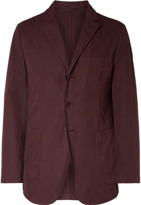 Aspesi Beige Slim-Fit Unstructured Garment-Dyed Cotton Blazer