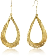 Aurelie Bidermann Gold Swan Feather Earrings