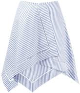J.W.Anderson striped asymmetric skirt