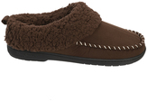 Dearfoams Espresso Faux Fur-Collar Slipper