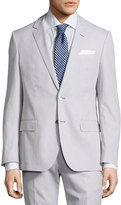 HUGO BOSS Hedson Pinstriped Slim-Fit Two-Piece Suit, Medium Gray