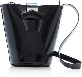 Acne Studios Musubi Knotted Patent-Leather Shoulder Bag
