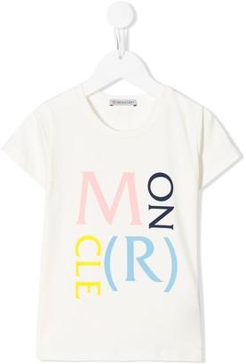 Moncler Enfant logo print crew neck T-shirt