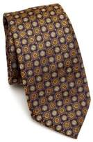 Saks Fifth Avenue COLLECTION Medallion Pattern Silk Tie