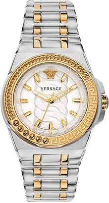 Versace Chain Reaction Watch with Bracelet Strap, Two-Tone