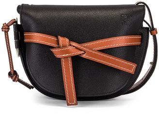 Loewe Gate Small Bag in Black & Pecan | FWRD