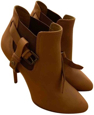 Ralph Lauren Beige Leather Ankle boots