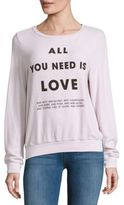 Wildfox Couture Letter-Printed Long-Sleeve Sweatshirt