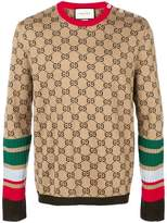 Gucci logo intarsia knitted jumper