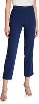 Natori Solid Crepe Straight-Leg Pants