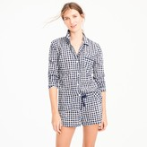 J.Crew Cotton pajama set in gingham