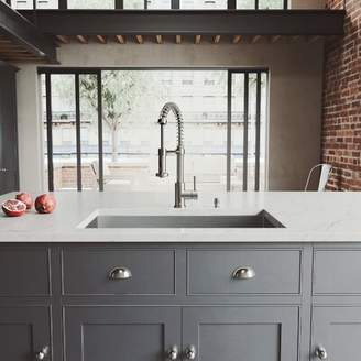 """Ludlow VIGO 32"""" L x 19"""" W Undermount Kitchen Sink with Faucet VIGO"""