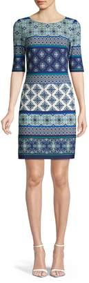 Eliza J Printed T-Shirt Dress