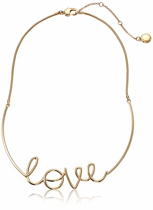 BCBGeneration BCBG Generation Women's Scripted Love Frontal Necklace