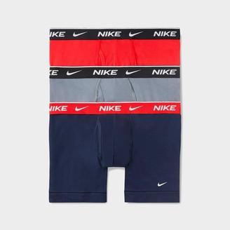 Nike Men's Underwear Everyday Cotton Stretch Boxer Briefs (3 Pack)