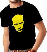 lepni.me N4113 T-shirt male Like Vladimir Putin CCCP Russia Russland Moscow ( Black Yellow)