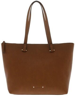 Piper Lara Double Handle Tan Tote Bag