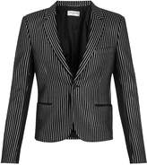 Saint Laurent Striped-lamé single-breasted jacket