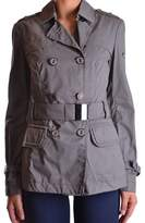 Geospirit Women's Grey Cotton Trench Coat.